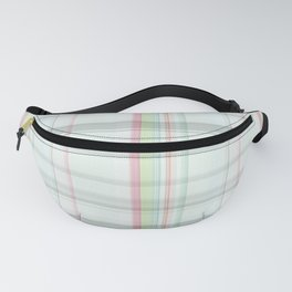 Country chic blush pink pastel green plaid Fanny Pack