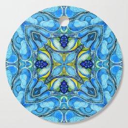 Blue Mandala Cutting Board