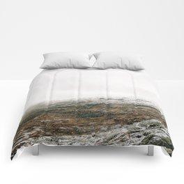 White winter mountain landscape | Norway travel photography print | Trolltunga Wanderlust art Comforters