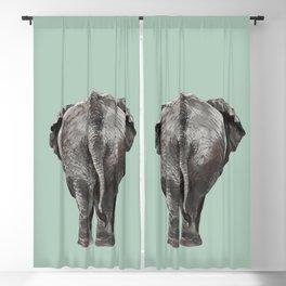 Elephant Butt in Green Blackout Curtain