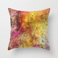 iron maiden Throw Pillows featuring Iron by jbjart