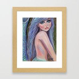 Lavender Dreams Mermaid Fantasy Art Framed Art Print