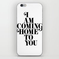 home sweet home iPhone & iPod Skins featuring Home by Maheva K