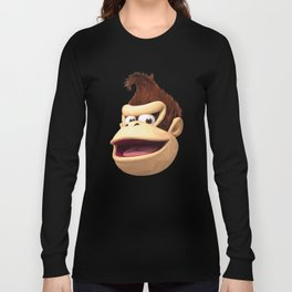 Triangles Video Games Heroes - Donkey Kong Long Sleeve T-shirt