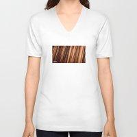 vinyl V-neck T-shirts featuring Vinyl. by Derek Fleener