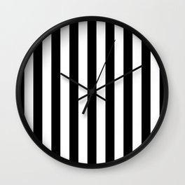 Black and White Stripes  Wall Clock