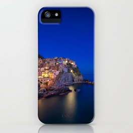 As the night falls over Manarola iPhone Case