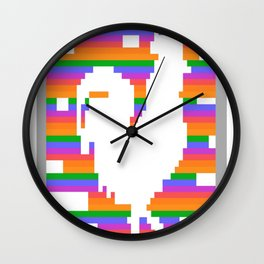 Chinese-Zodiac-Rooster-Design-Retro-8-Bit-Computer-Game Wall Clock