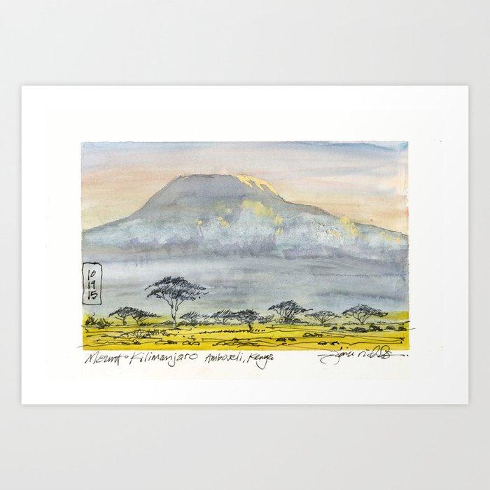 Kilimanjaro at Sunset Kunstdrucke
