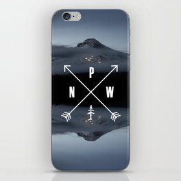 PNW Pacific Northwest Compass - Mt Hood Adventure iPhone Skin