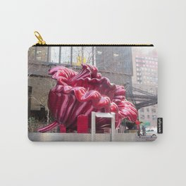Public artwork - red flower Carry-All Pouch