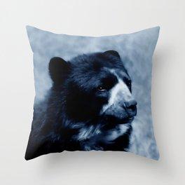 Black bear contemplating life Throw Pillow
