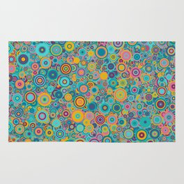 Psychedelic funky Seventies disco party Rug