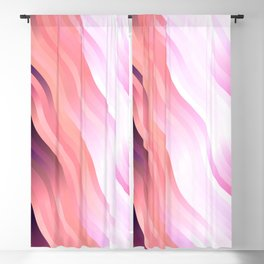 wavy lines pattern mag Blackout Curtain