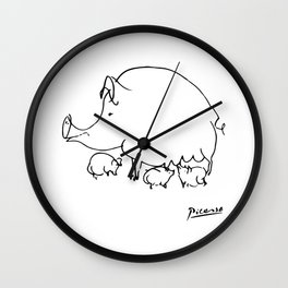 Pablo Picasso Pig Drawing, Lines Sketch, Animals Artowork, Men, Women, Kids, Tshirts, Posters, Print Wall Clock