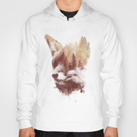 country Hoodies featuring Blind fox by Robert Farkas