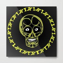 anxious skull Metal Print