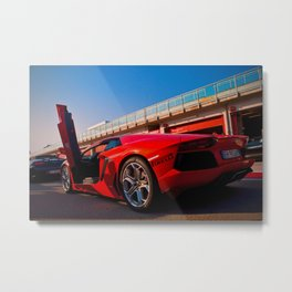 Lamborghini test drive Metal Print