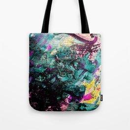 Textured Graffiti Print Tote Bag