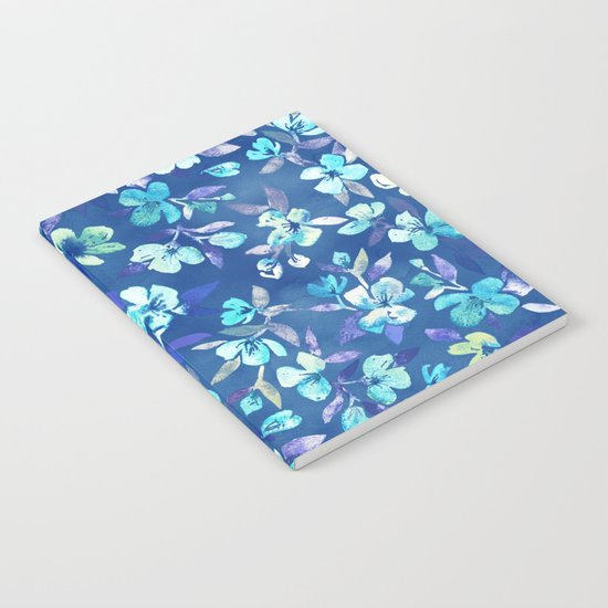 Grown Up Betty - blue watercolor floral Notebook