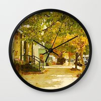 norway Wall Clocks featuring Norway, ME by 163 Design Company