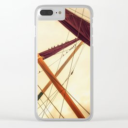 Masts of Yacht Clear iPhone Case