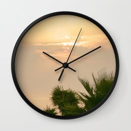 cloudy sky in the oasis Wall Clock