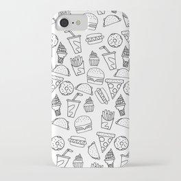 Fast Food Monoline Doodles iPhone Case