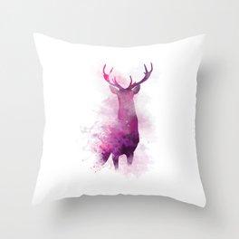 Watercolour Stag Throw Pillow