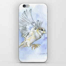 Sparrow Watercolor iPhone Skin