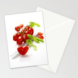 tomato heart - healthy eating concept Stationery Cards