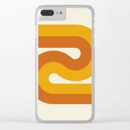 Retro Curves II Clear iPhone Case