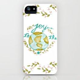 Joy to the World Christmas iPhone Case