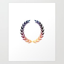 laurel wreath sticker Art Print