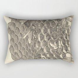 Antique Honeycomb Illustration Rectangular Pillow