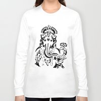 ganesh Long Sleeve T-shirts featuring Ganesh by ShivaR
