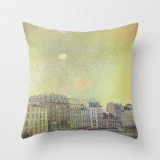 Paris Row Throw Pillow