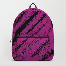 Purple / Violet Expressive Paint Texture, Modern Abstract Painting Pattern Backpack
