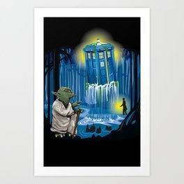 MAy the Tardis be with you! Art Print