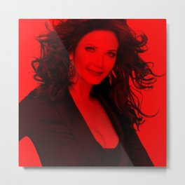Lynda Carter - Celebrity (Photographic Art) Metal Print