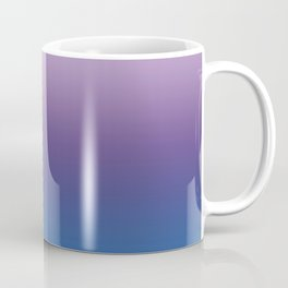 Ultra Violet Blue Lilac Ombre Gradient Pattern Coffee Mug
