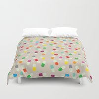 the cure Duvet Covers featuring Pill cure by  R U A L E G R E