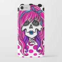 rockabilly iPhone & iPod Cases featuring 'Rockabilly skull' by NeonStarr