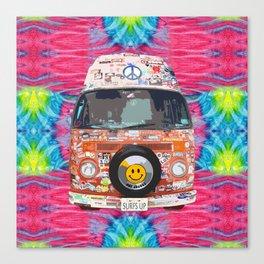 Groovy Hippie Van Canvas Print