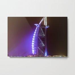 Dubaï, One Night At Midnight Miles Metal Print