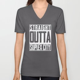 Straight Outta Suplex City Brock Lesnar Unisex V-Neck