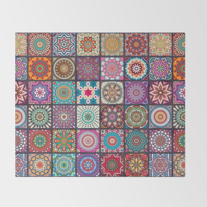 Boho Throw Blankets New Boho Patchwork Mandela Pattern Throw Blanket By Robincurtiss Society60