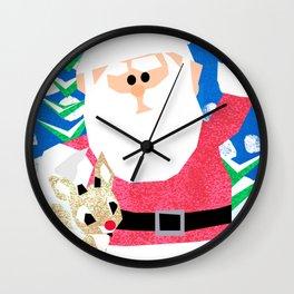 Santa and Rudolph Wall Clock