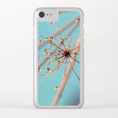 Queen Anne's Lace in Blue Clear iPhone Case