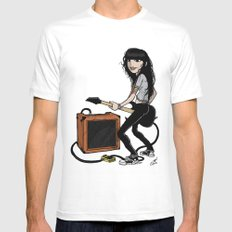 Queen of noise. MEDIUM White Mens Fitted Tee